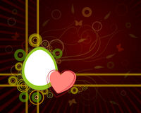 Red design silhouette Easter egg Stock Photos