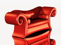 Red designer sofa Royalty Free Stock Image