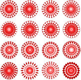 Red designs. Red circular ornamental designs for christmas - VECTOR Stock Image