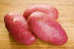 Red Desiree Potatoes Stock Photo