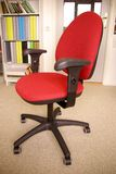 Red Desk Chair Royalty Free Stock Photo
