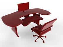Red desk illustration Stock Images