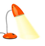 Red desk lamp Stock Images