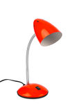 Red desk lamp Stock Photography