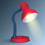 Red desk lamp - vector Royalty Free Stock Photos