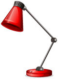 A red desk lampshade Stock Photo