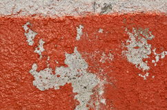 Red deteriorated paint Stock Photo