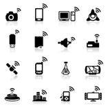 Red determinada del icono Imagen de archivo libre de regalías