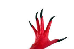 Red devil´s hand Stock Photography