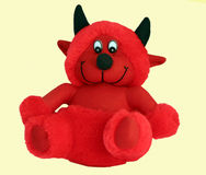 Red Devil. Soft cuddly toy Royalty Free Stock Photos