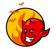 Red Devil Boy Badge Royalty Free Stock Image