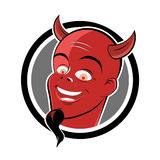 Red devil button Stock Images