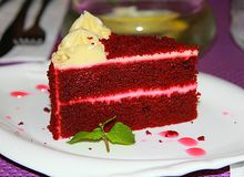 Red Devil Cake Stock Photo