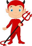 Red devil cartoon Stock Photo