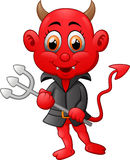 Red devil cartoon Stock Images