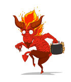 Red Devil Character vector. Monster in Halloween night Stock Image