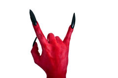 Red devil´s hand 3 Stock Image