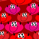 Red Devil seamless pattern. Many Devils. Vector background Royalty Free Stock Image
