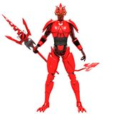 Red devil. Spear weapon Satan monster Stock Images