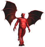 Red devil with wings. 3D render of a red devil with wings vector illustration