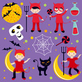Red devils halloween Royalty Free Stock Photo