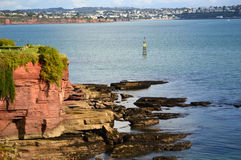 Red Devon Cliffs, Paignton Stock Images