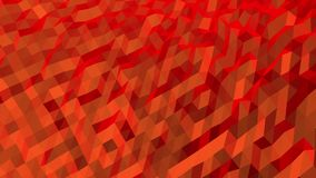 Red Diagonal Abstract Low Poly Pattern. Seamless looping Background Pattern Motion Design stock footage