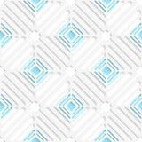 Red diagonal de la casilla blanca y modelo azul Fotografía de archivo libre de regalías