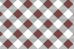 Red diagonal Gingham pattern. Texture from rhombus/squares for - plaid, tablecloths, clothes, shirts, dresses, paper, bedding, vector illustration