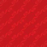 Red diagonal monogram on checkered background Royalty Free Stock Photography