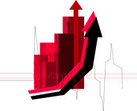 Red diagram. Of business growth royalty free illustration