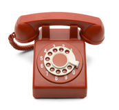 Red Dial Phone Royalty Free Stock Image