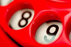 Red dial telephone Royalty Free Stock Photos