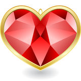 Red diamond Royalty Free Stock Photography