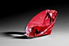 Red diamond close-up. Red crystal diamond close-up Royalty Free Stock Photos