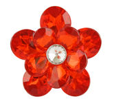 Red diamond flower Stock Photography