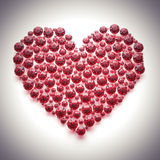 Red diamond heart -  with clipping path. Red diamond heart on white-  with clipping path Royalty Free Stock Image
