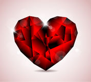 Red Diamond jewel heart Stock Photo