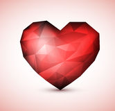 Red Diamond jewel heart Stock Photography