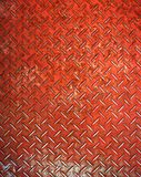 Red diamond metal plate stock photos