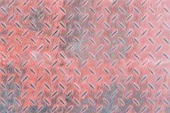 Red diamond metal plate Stock Photo
