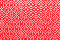 Red diamond pattern fabric Royalty Free Stock Photography