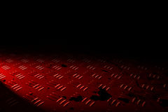 Red diamond plate Royalty Free Stock Images