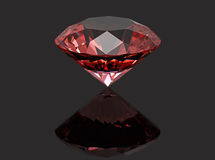 Red diamond ruby Stock Photography