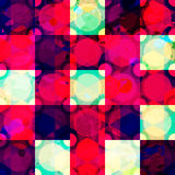 Red diamond seamless pattern grunge effect Royalty Free Stock Photos