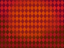 Red diamond shapes Argyle pattern background. Red diamond shapes repeat background. gradient from dark red to orange color Royalty Free Stock Photography
