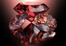 Red diamond  on white background with clipping path.  Stock Images