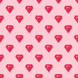 Red diamonds on pink background seamless pattern. Stock Images