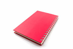 Red diary book on white background. Stock Image