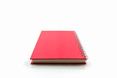 Red diary book on white background. Royalty Free Stock Photography